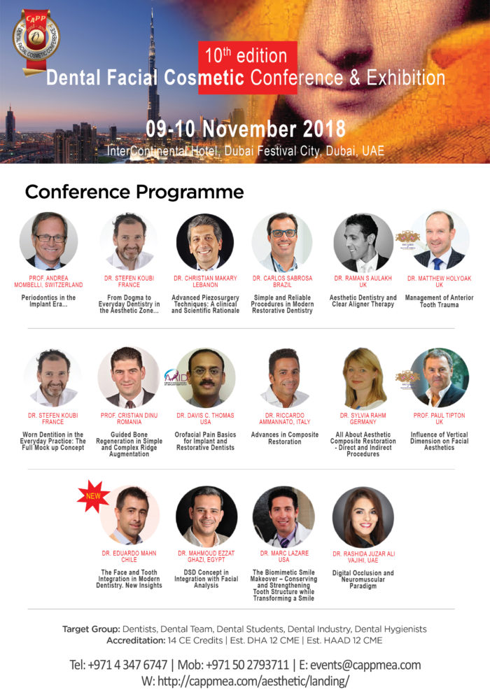 10th anniversary of the Dental Facial Cosmetic Conference