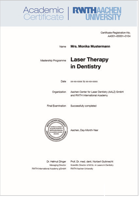 MASTERSHIP PROGRAMME LASERS IN DENTISTRY - CAPPmea